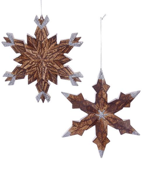 Kurt Adler Set of 4 Snowflake Ornaments~3050712977