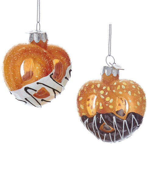 Kurt Adler Set of 2 Pretzel Ornaments~3050716524
