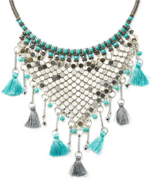 Cara Couture Jewelry Tassel Statement Necklace~6030899549