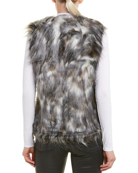 Cupcakes and Cashmere Frisco Faux Fur Vest~1411010867