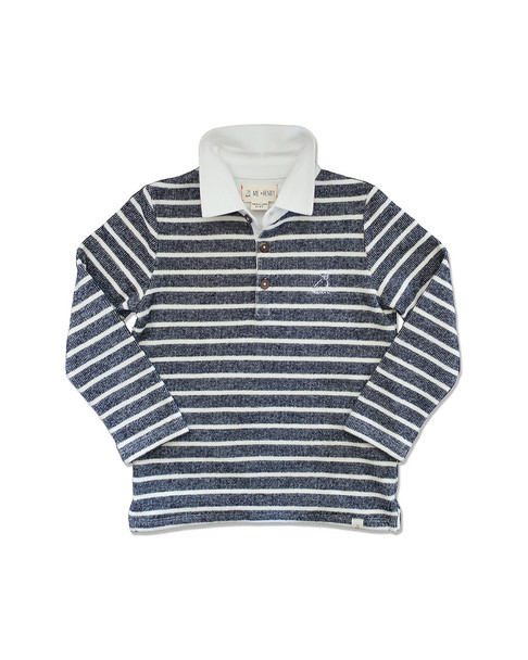 Me & Henry Navy/Cream Striped Rugby~1511953888