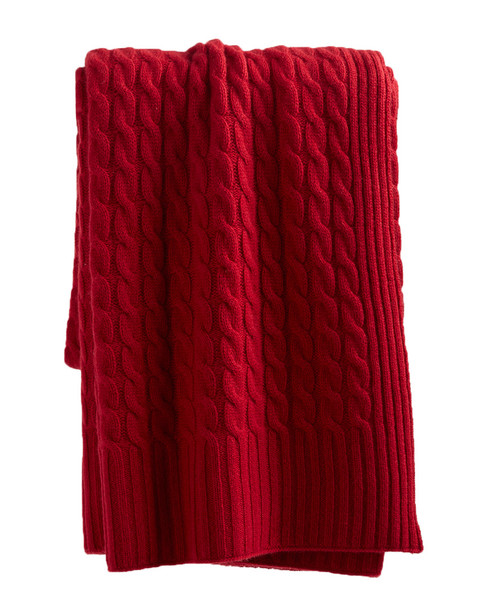 sofiacashmere Classic Cable Cashmere Throw~3030951876