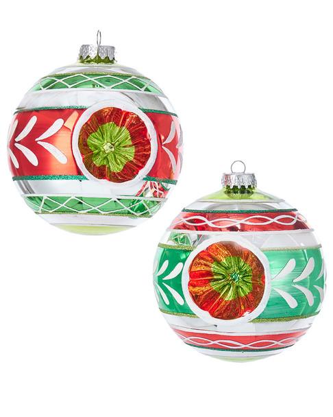 Kurt Adler Set of 2 Reflector Ornaments~3050437797