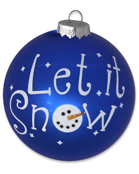 Kat & Annie Set of 6 Let it Snow Snowman Round Ornaments~3050462208