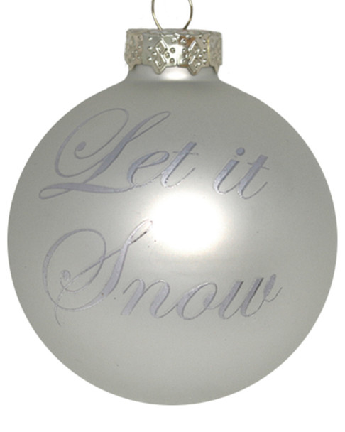 Kat & Annie Set of 6 Let it Snow Round Ornaments~3050685769