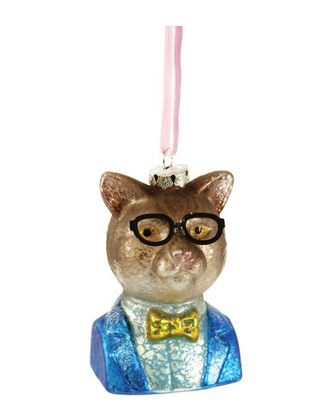 Cody Foster Set of 4 Professor Cat Ornaments~3050692441