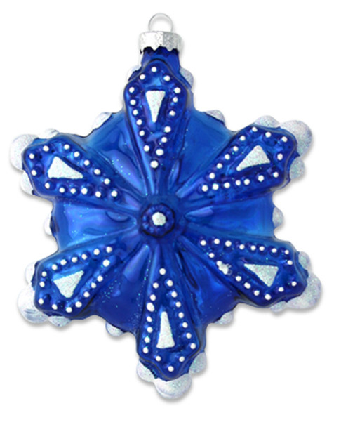 Kat & Annie Frosted Blue Snowflake Ornament~3050758800