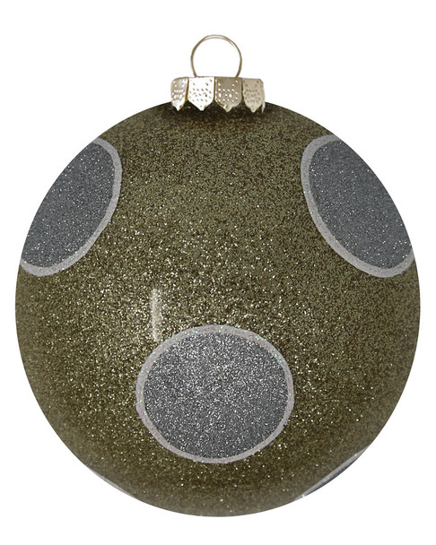 Kat & Annie Gold & Silver Dotted Round Ornament~3050758803