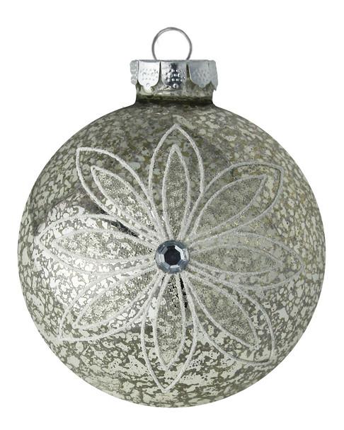 Kat & Annie Gold Flower Round Ornament~3050758804