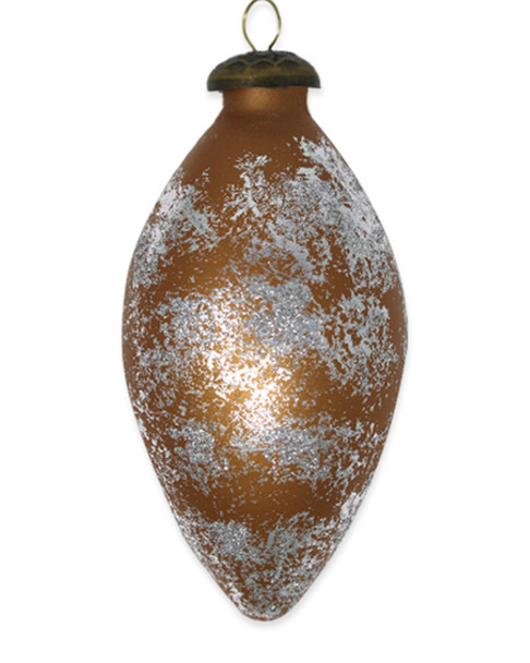Kat & Annie Bronze Tulip with Silver Glittered Detail Ornament~3050758805
