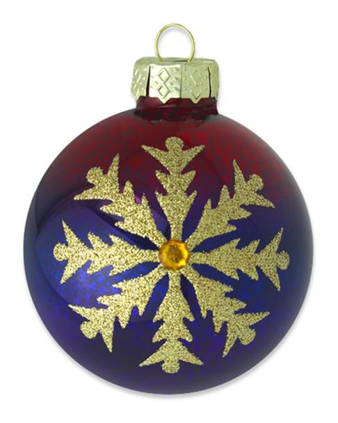 Kat & Annie Gold Snowflake Round Ornament~3050758809