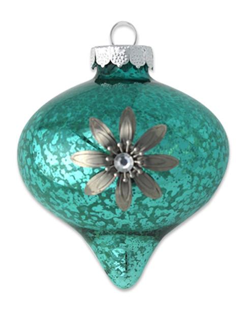 Kat & Annie Flower Turquoise Onion Ornament~3050758811