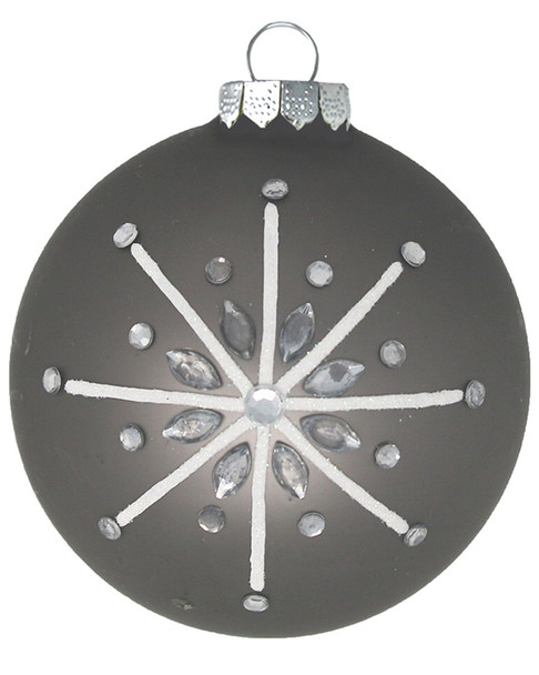 Kat & Annie Super Satin Round with Gemmed Star Ornament~3050758827