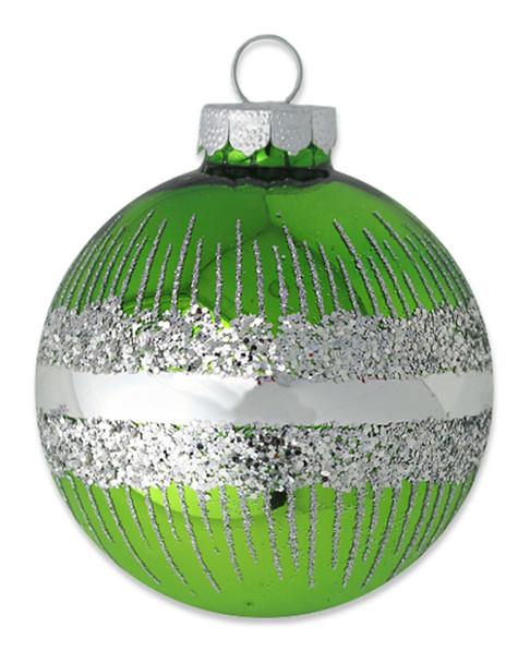 Kat & Annie Green Sparkle Round Ornament~3050758845