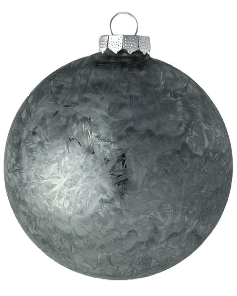 Kat & Annie Silver Ice Crystal Round Ornaments~3050758850