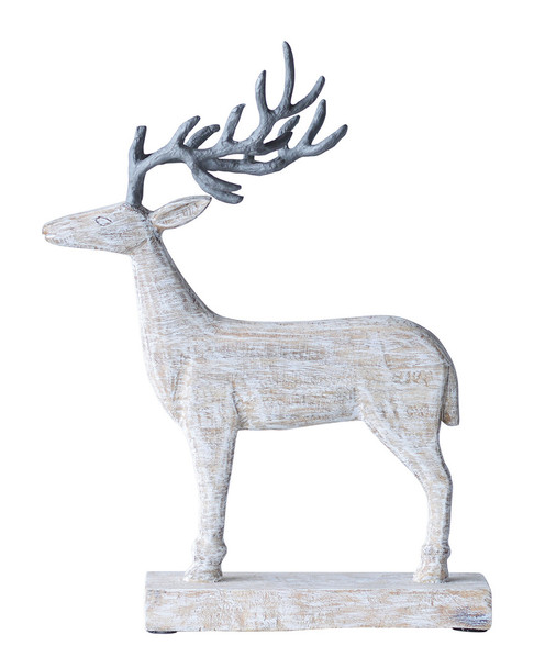 creative co-op Mango Wood & Metal Reindeer~3050847178