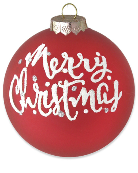 """Kat & Annie Red & White """"Merry Christmas"""" Round~3050901913"""