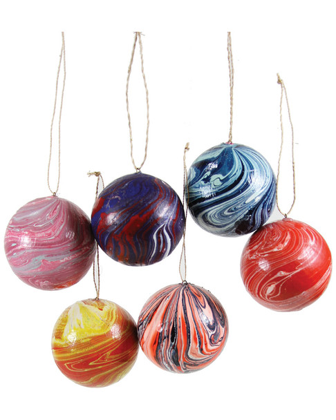 Cody Foster & Co Marbled Ball Ornaments~3050978345