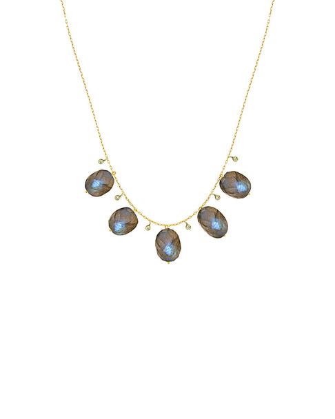 Meira T 14K 14.70 ct. tw. Diamond & Labradorite Necklace~6030961291