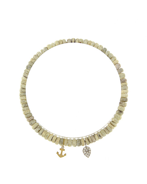 Meira T 14K Two-Tone Diamond & Silverite Anchor Bracelet~6030961304
