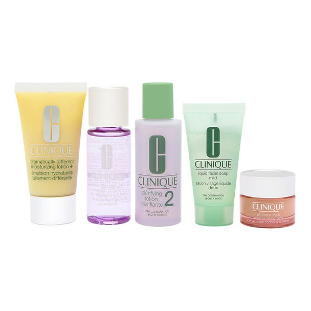 Clinique Daily Essentials 5-Piece Set for Dry to Combination Skin~020714636296