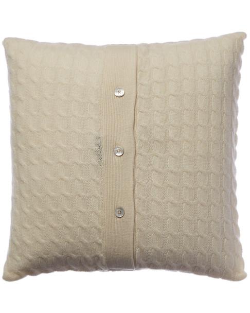 sofiacashmere Classic Cable Cashmere Pillow Cover~3030951879