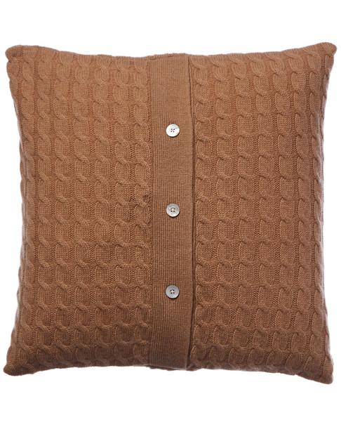 sofiacashmere Classic Cable Cashmere Pillow Cover~3030951884