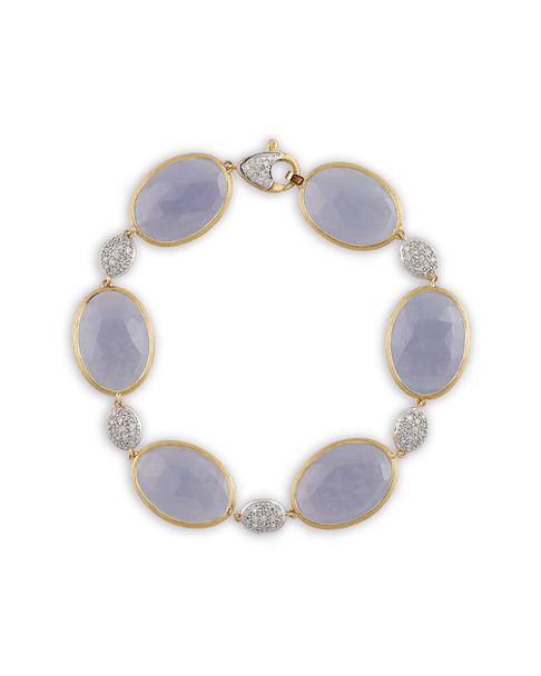 Marco Bicego Paraidse 18K Two-Tone 0.62 ct. tw. Diamond & Chalcedony Bracelet~6030044265