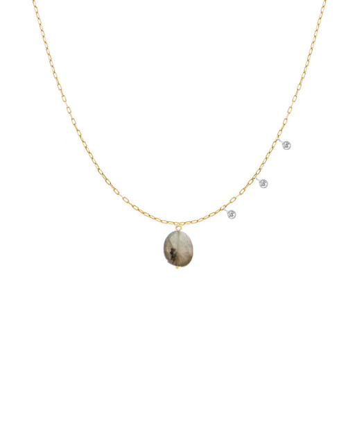 Meira T 14K Rose Gold 14.70 ct. tw. Diamond & Pink Opal Necklace~6030961290