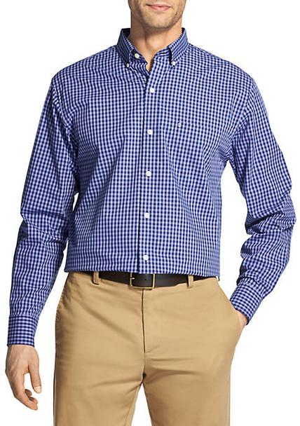 IZOD Premium Essentials Stretch Long Sleeve Button Down Shirt~45GW009
