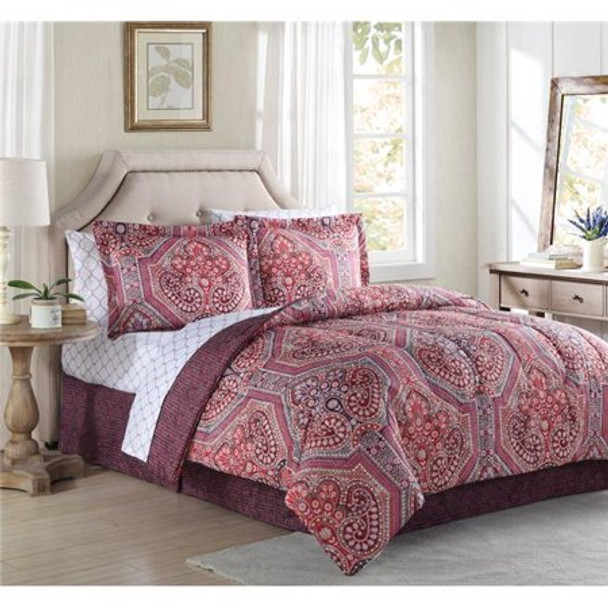 Alden Printed Bed in a Bag Comforter Set by Lemon & Spice~Alden