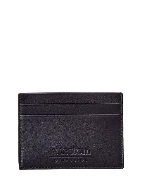 A. Testoni Leather Card Case~1162013105