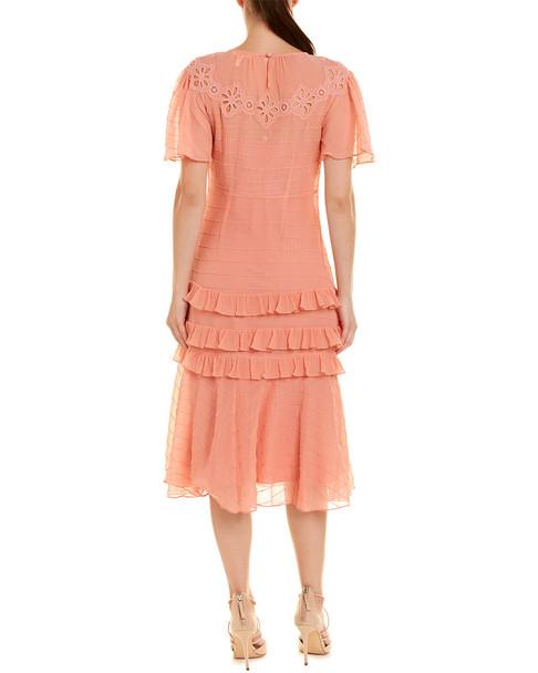 Rebecca Taylor Pinwheel Silk-Blend Midi Dress~1411016962