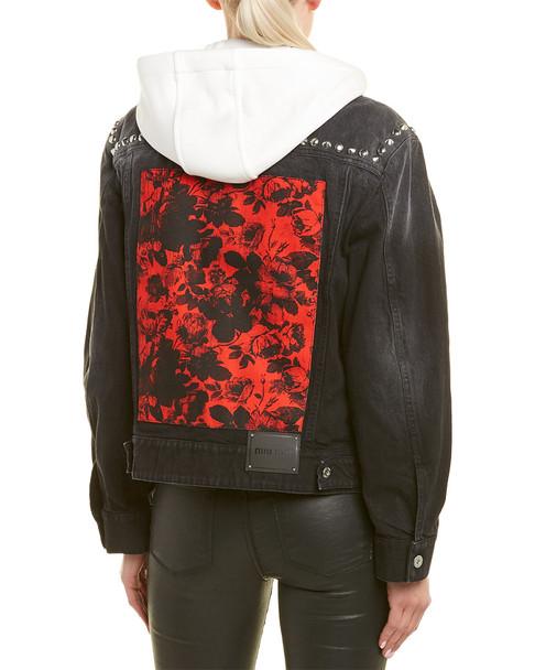 Miu Miu Denim Flower Stud Jacket~1411064410