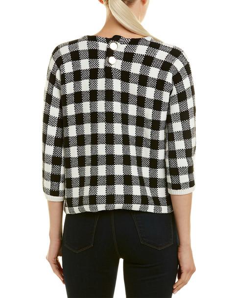 Maje Gingham Sweater~1411388110