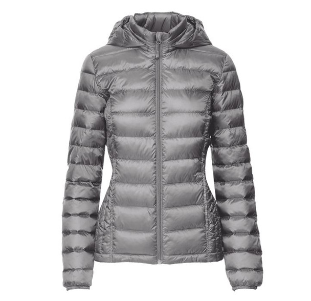 32 DEGREES Womens Ultra Light Weight Down Packable~Grey*TLF80281MRT
