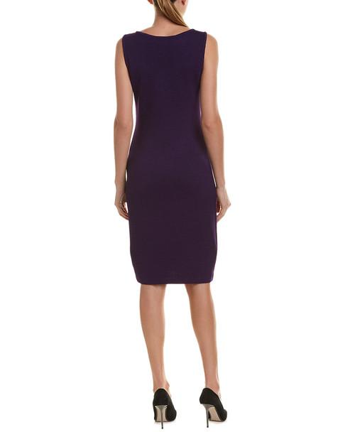 St. John Sheath Midi Wool-Blend Dress~1411610601