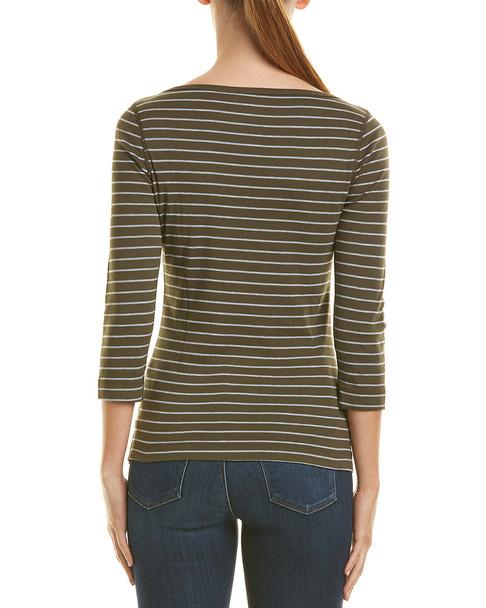 Three Dots Autumn Stripe T-Shirt~1411731896