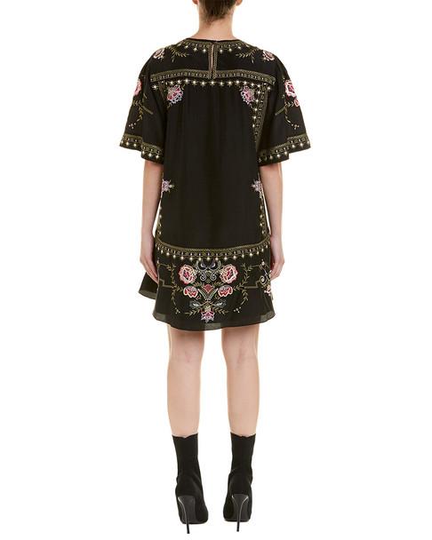 Isabel Marant Embroidered Silk Shift Dress~1411892749