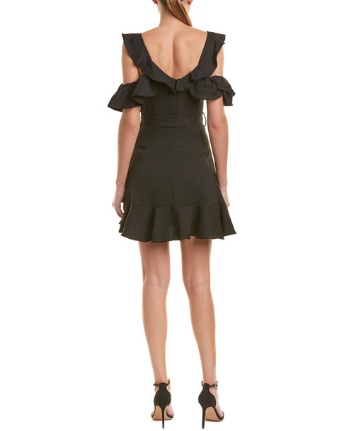 Aiden Cold-Shoulder Cocktail Dress~1411965907