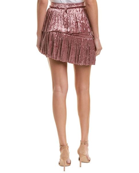 Aiden Tiered Velvet Skirt~1411965944