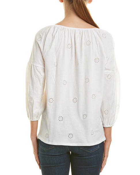 Three Dots Eyelet Top~1411990367