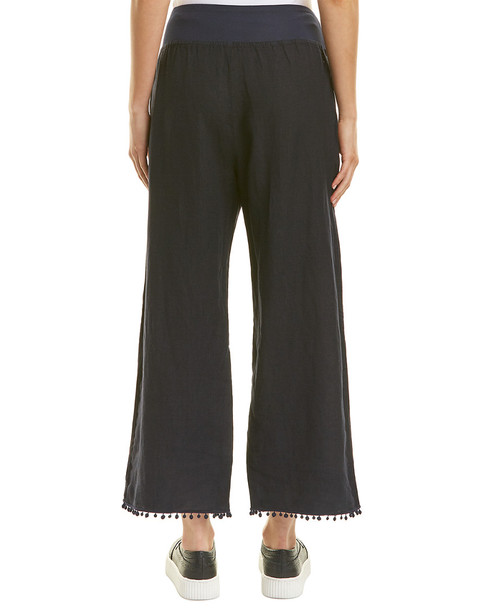 Three Dots Cropped Linen Pant~1411990378