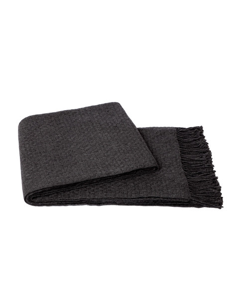 a & R Cashmere Cashmere & Wool Blend Basketweave Throw~3030506265