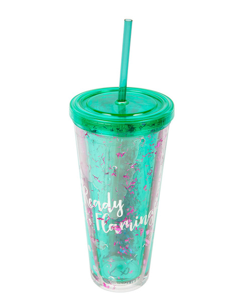 Sunnylife Flamingo Glitter Tumbler~3050779608