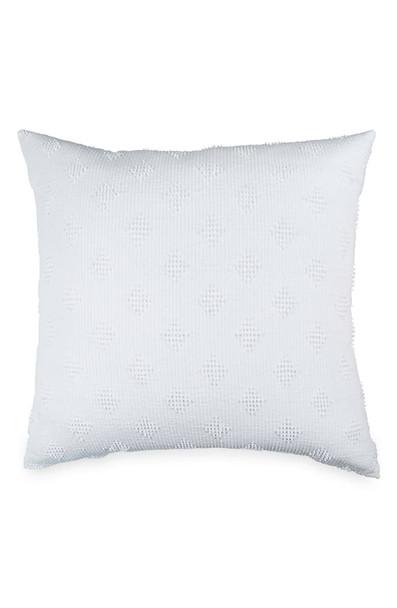 Peri Home Candlewick Diamond European Pillow Sham in White~2A21180NWT
