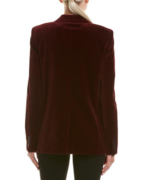 Saint Laurent Velvet Silk Jacket~1411061716