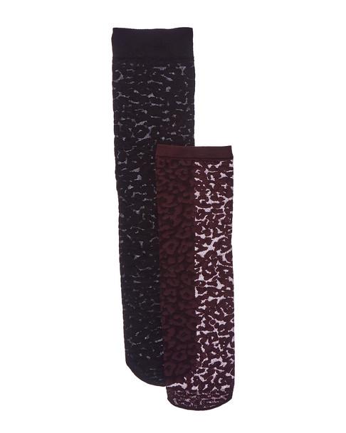 Emilio Cavallini 2pk Leopard Trouser Socks~1412007841