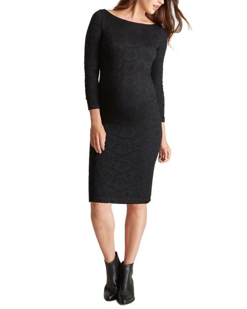 Ingrid & Isabel Maternity Boatneck Lace Dress~1050009038