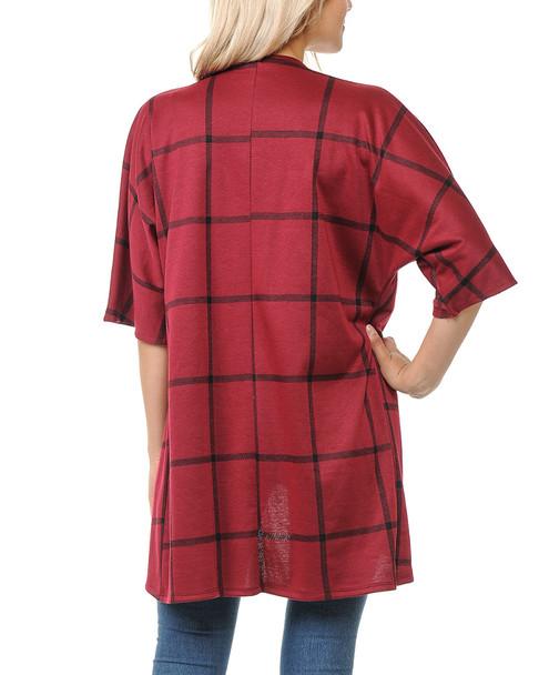 Susi Susie 3/4-Sleeve Front Open Jacket~1411001610